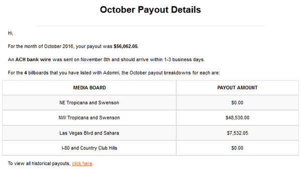 Payout Details