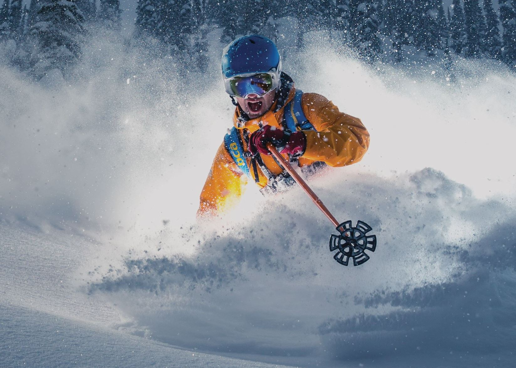 Rent ski helmets and goggles