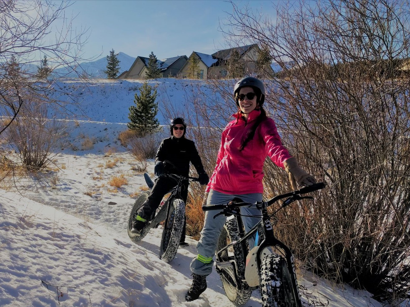 Winter Fat Biking in Breckenridge