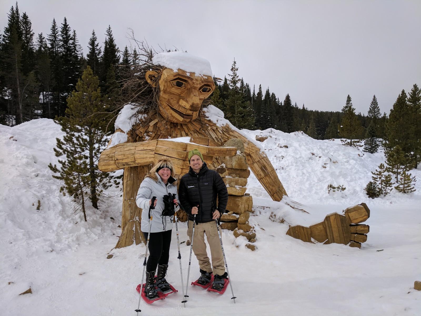 Snowshoe trek to troll in Breckenridge, Co