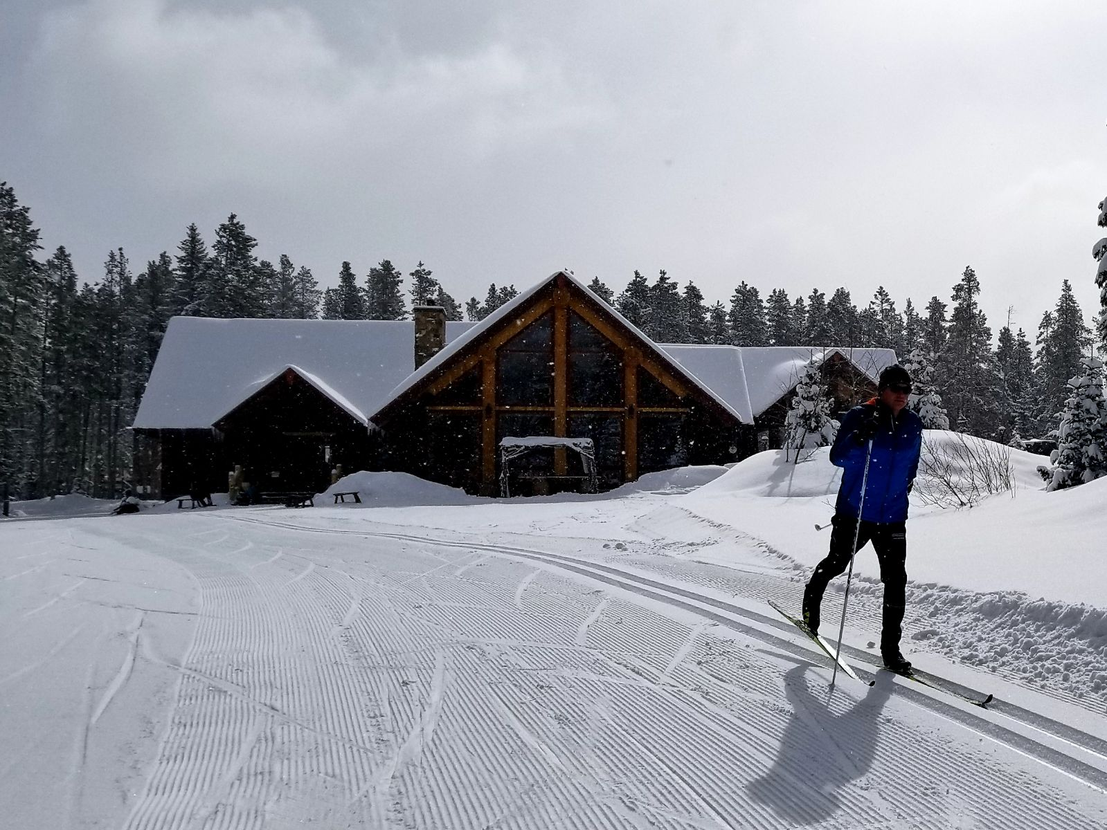 Learn to cross country ski at the Breckenridge Nordic Center.