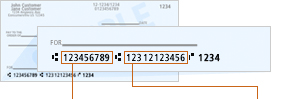 picture of where routing number is on your check