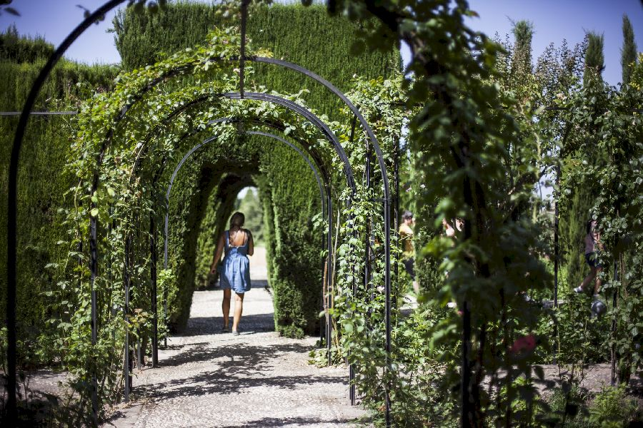 Beautiful Gardens with a walk through tree tunnel designed for visitors