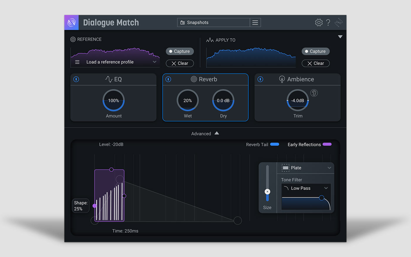 iZotope Dialog Match UI