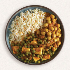 Amy's paneer rice and peas