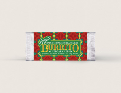 Cheddar Cheese, Bean & Rice Burrito