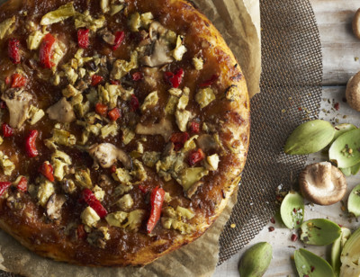 Roasted Vegetable Pizza, Vegan
