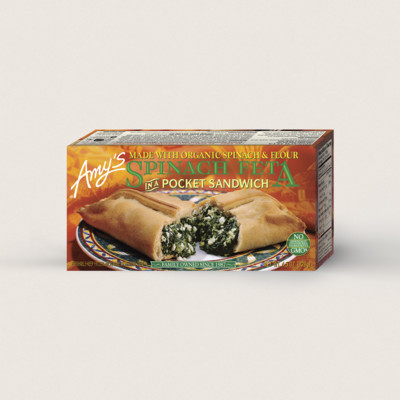 Spinach Feta in a Sandwich