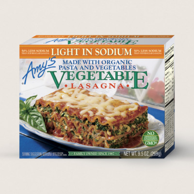 ... foods light in sodium vegetable la vegetable lasagna light in sodium