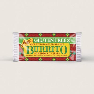 Cheddar Cheese, Bean & Rice Burrito, Gluten Free