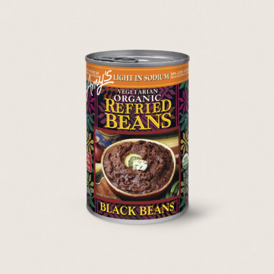 Organic Vegetarian Refried Black Beans, Light in Sodium
