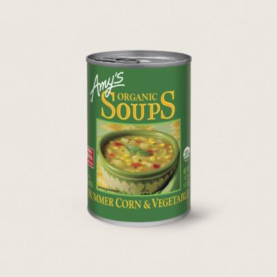 Organic Summer Corn & Vegetable Soup