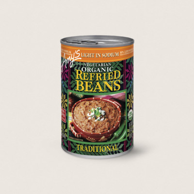 Organic Vegetarian Traditional Refried Beans, Light in Sodium