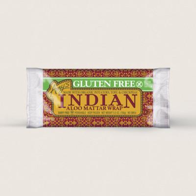 Indian Aloo Mattar Wrap, Gluten free