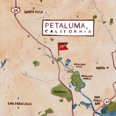 Amy's Petaluma Map