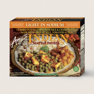 Indian Mattar Paneer, Light in Sodium