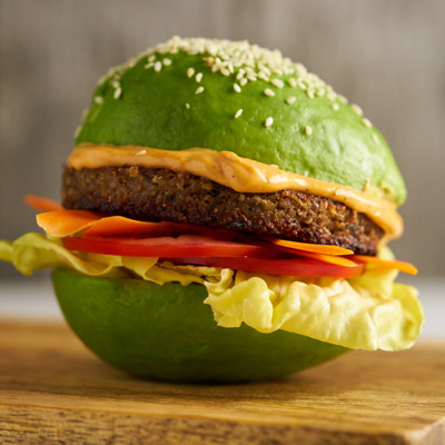 Amy's Veggie Burger Sesame Avocado Bun