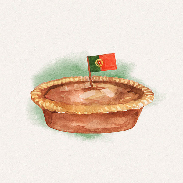 Amy's pie with Portugal flag