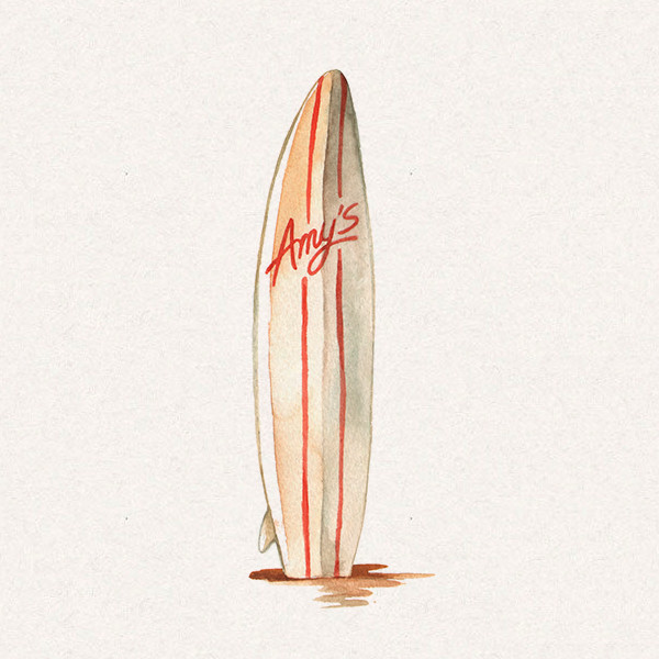 Amy's surfboard