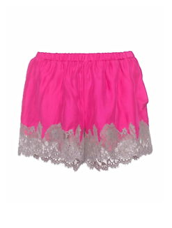 Fuchsia Pink Marilyn Lace Sleep Shorts