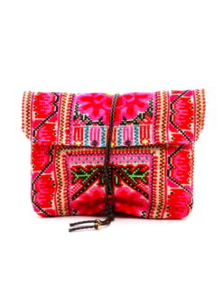JADE TRIBE Pink Elizabeth Envelope Bag