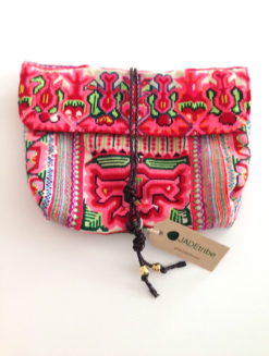 ADE TRIBE Pink Elizabeth Envelope Bag- shop amla