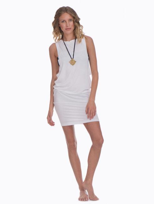 Marysia White T-Shirt Dress
