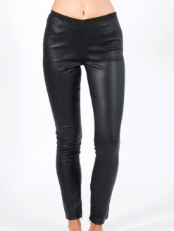 Plonje Leather Pants - Black