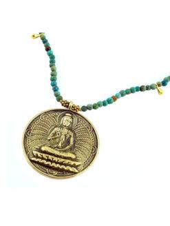 Lilly Lambert Turquoise Buddha Necklace