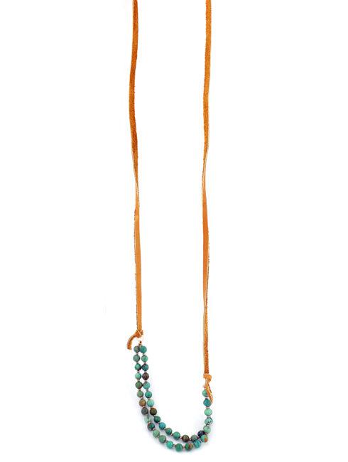 Festival Turquoise Leather Necklace =ahopamla