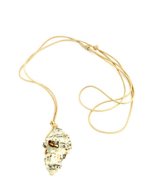 Triton Luxury Seashell Leather Necklace