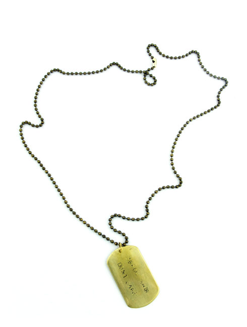 Beach Hair Don't Care Dog Tag Necklace