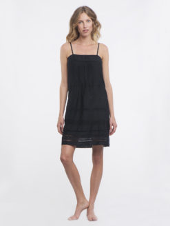 Falcon&BloomSummerBreezeTankDress(black)FRONT