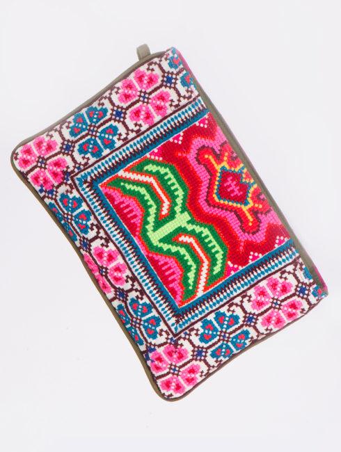Jade Tribe Pink Elizabeth Fold Clutch