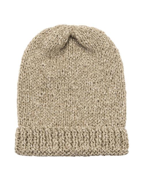 Mes Demoiselles Josy Gold Beanie Hat