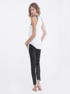 Nove Leather Low Rise Racer Pants