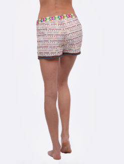 Love Sam Multicolored Imari Yucatec Emb Shorts