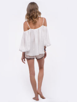 LoveSamMarielliColdShoulderTop(white)BACK(LSMCSTI)