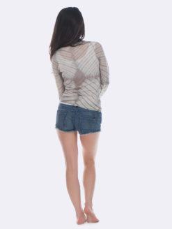 Parker Blue Grey TyeDye Kamari Cashmere Sweater