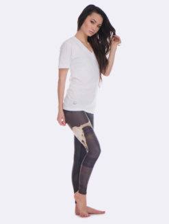 Teeki Gray Deer Medicine Yoga Pants