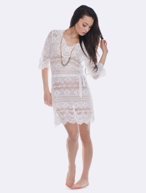 Temptation Positano White Palmi Dress