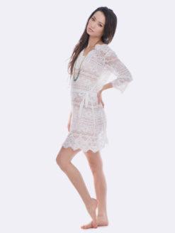 Temptation Positano White Palmid Dress