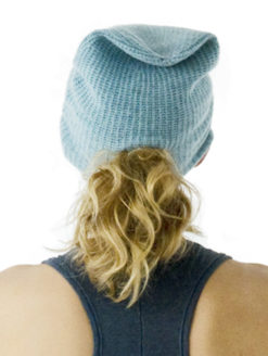 Warm Me Elsa Beanie - Glass Blue - Amanda Mills Los Angeles