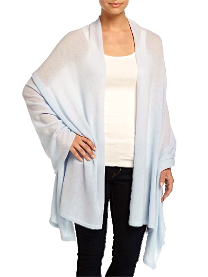 Bleu Clair Cashmere Blankie Wrap - minnie rose
