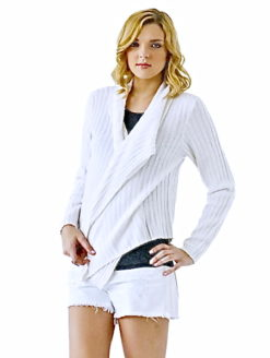 Minnie Rose Ivory Courtney Sweater- amla
