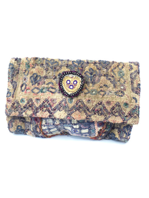 Sage Vintage Purple Clutch