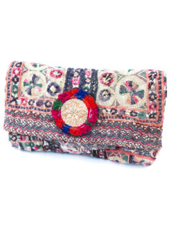 Blue Hippy Vintage Red Clutch