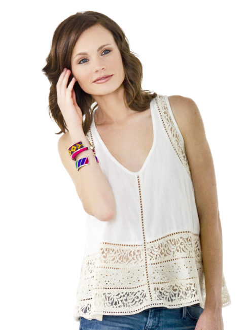 Love Sam Clariss Mix Lace Tank