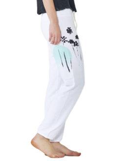 MONROW-Sunset Sweatpant-white