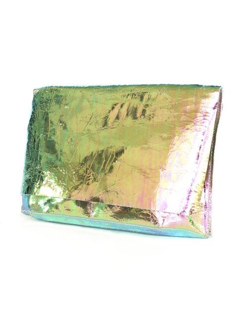 Carmen Gold Foil Disco Clutch - Tracey Tanner